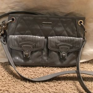 Coach patent leather shoulder bag